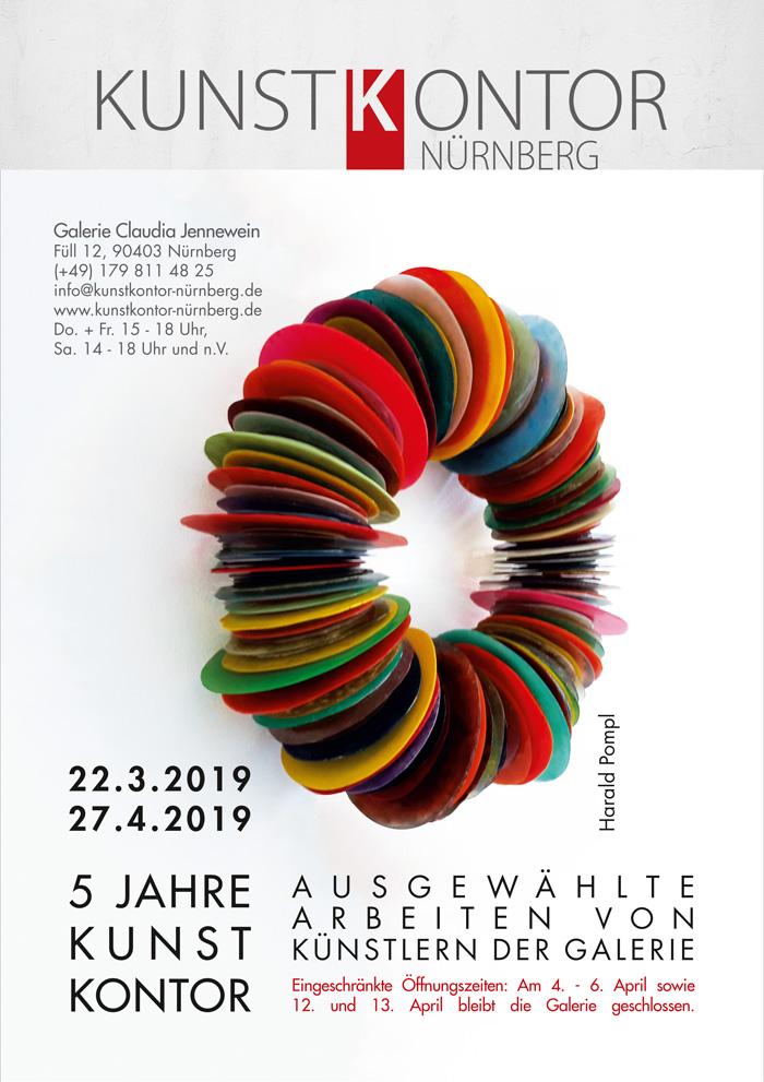 Poster 5 Jahre Kunstkontor Nürnberg